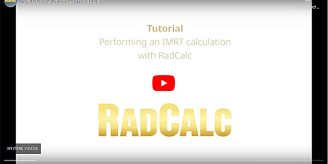 RadCalc on YouTube