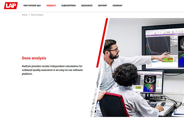LAP unveils new RadCalc website with a fresh look and feel